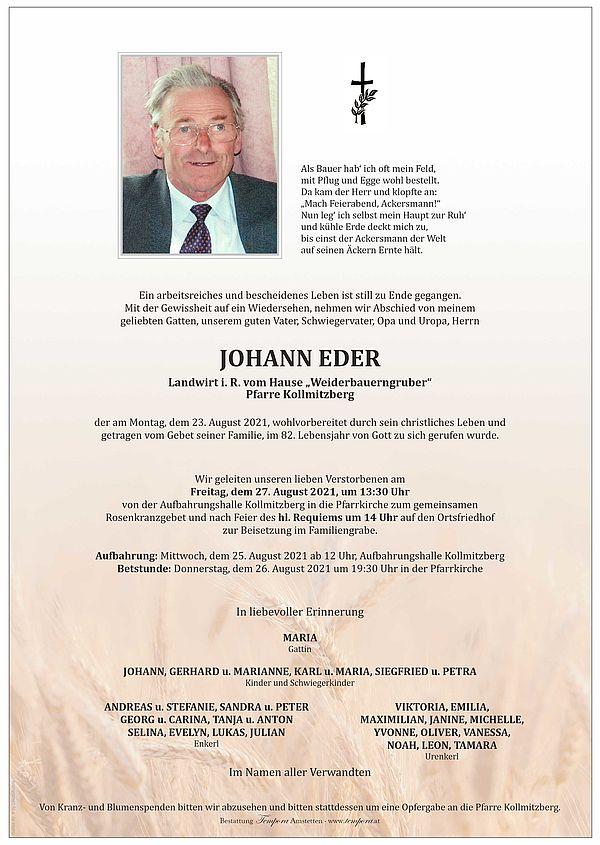 Parte von Johann Eder
