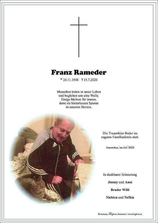 Parte von Franz Rameder