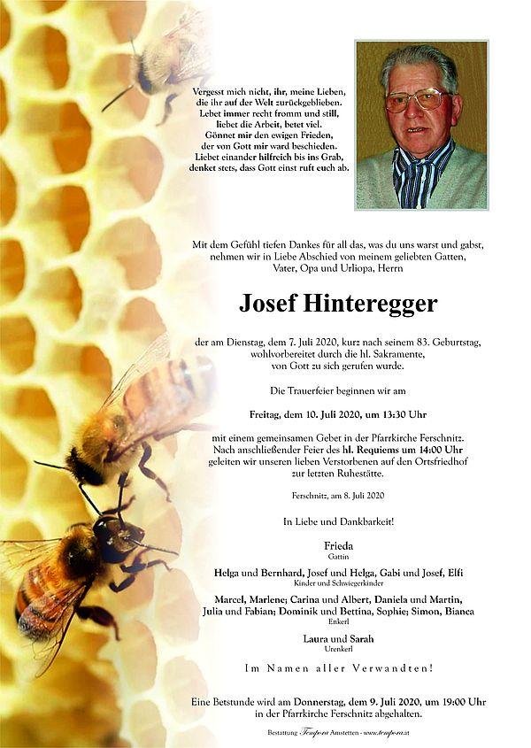 Parte von Josef Hinteregger