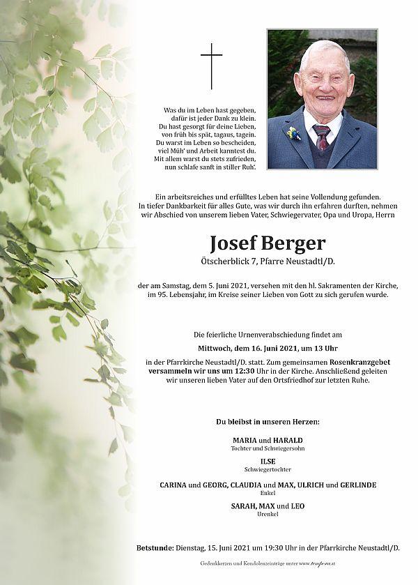Parte von Josef Berger