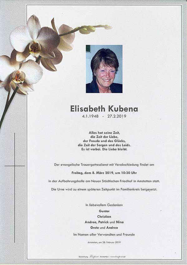 Parte von Elisabeth Kubena