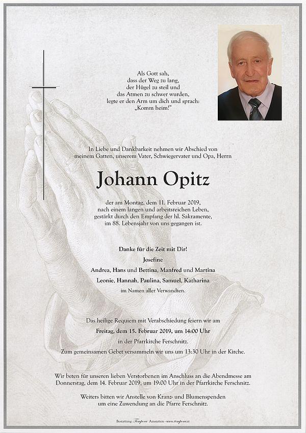 Parte von Johann Opitz