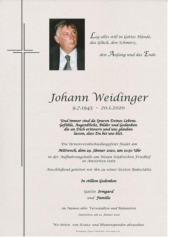 Parte von Johann Weidinger