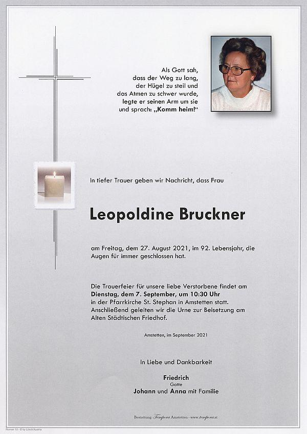 Parte von Leopoldine Bruckner