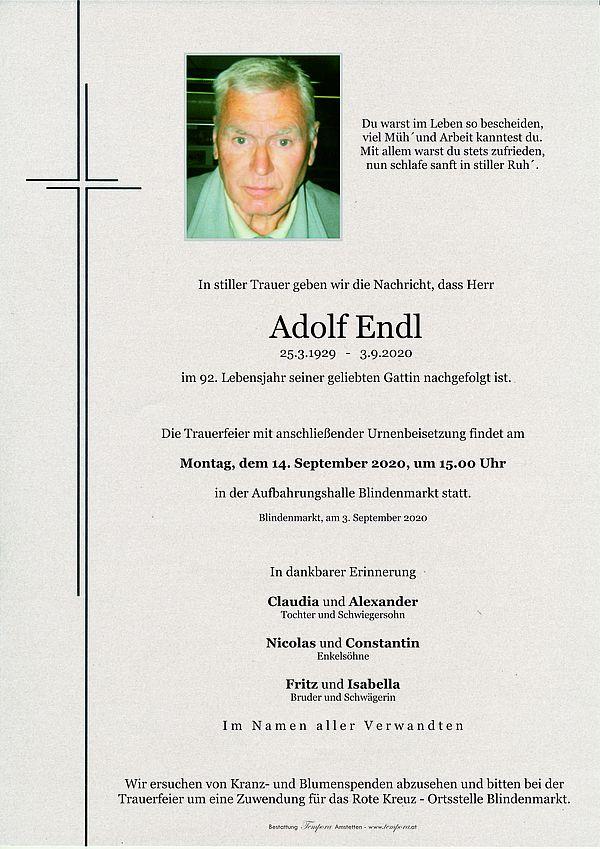 Parte von Adolf Endl