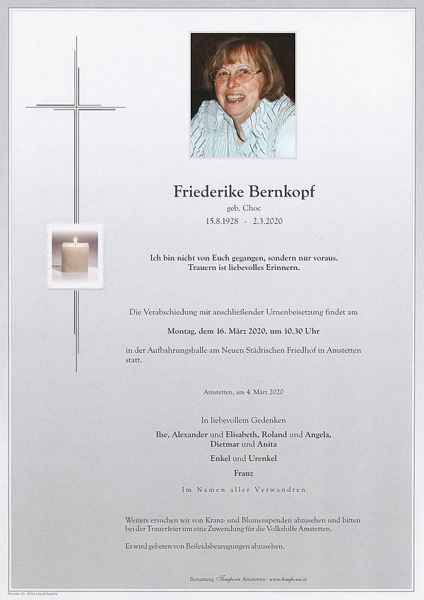 Parte von Friederike Bernkopf