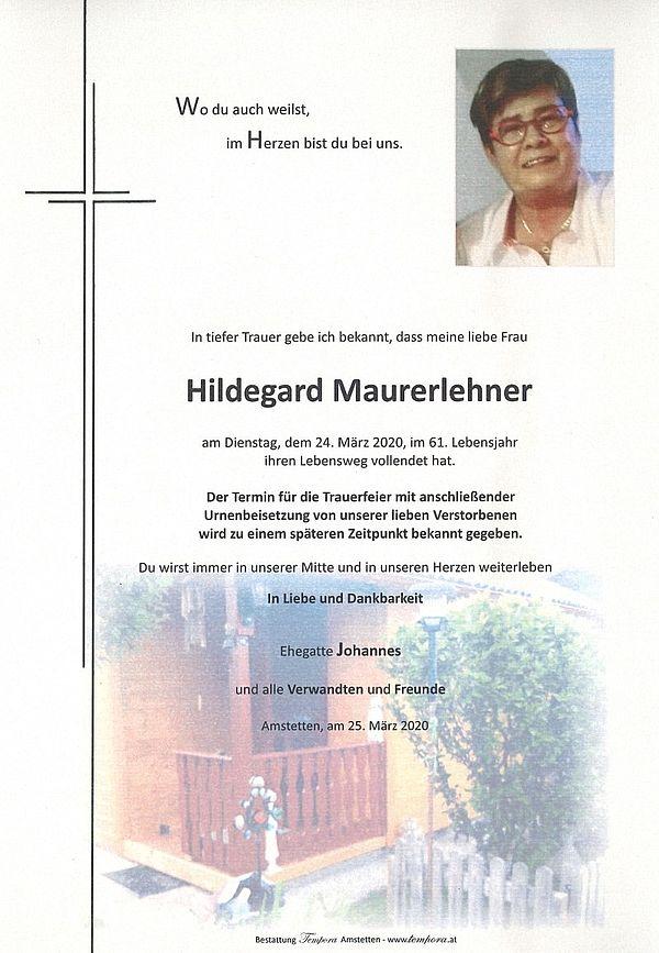 Parte von Hildegard Maurerlehner