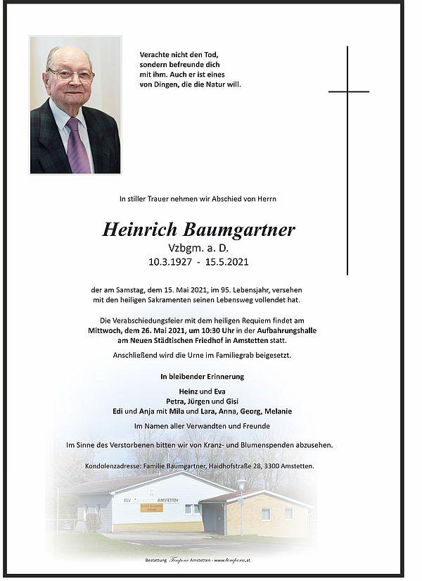 Parte von Heinrich Baumgartner
