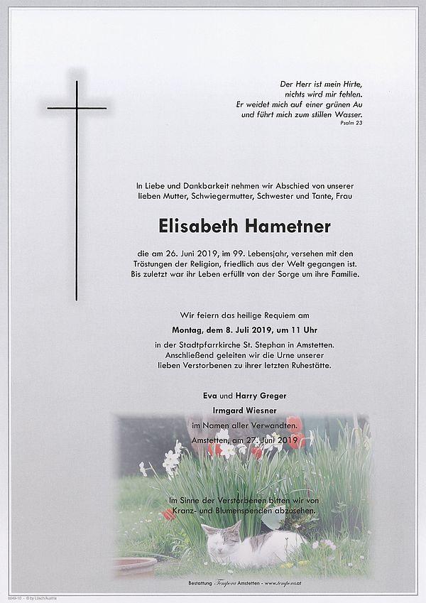 Parte von Elisabeth Hametner