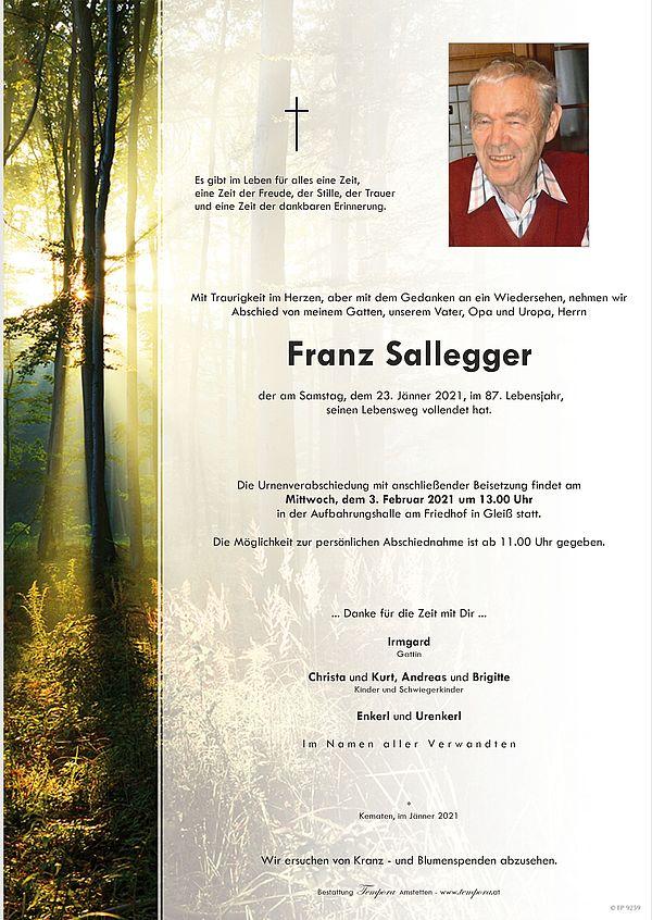 Parte von Franz Sallegger