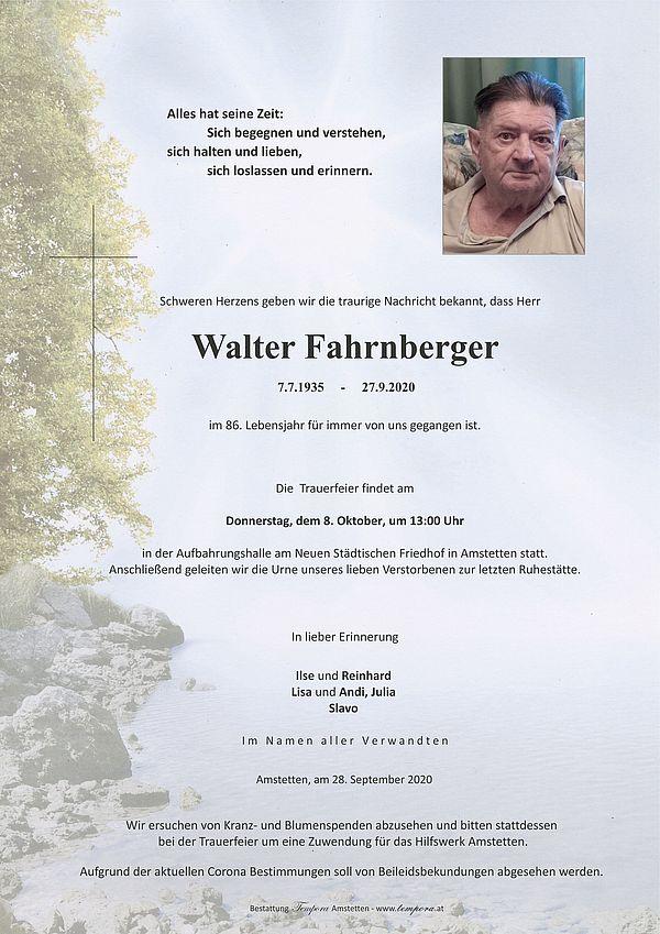Parte von Walter Fahrnberger