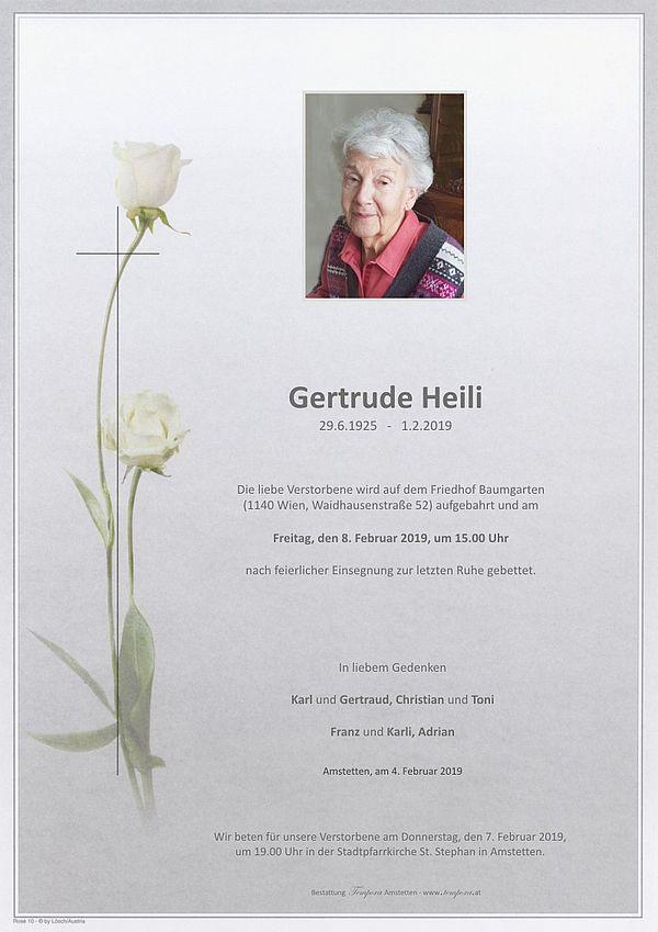 Parte von Gertrude Heili