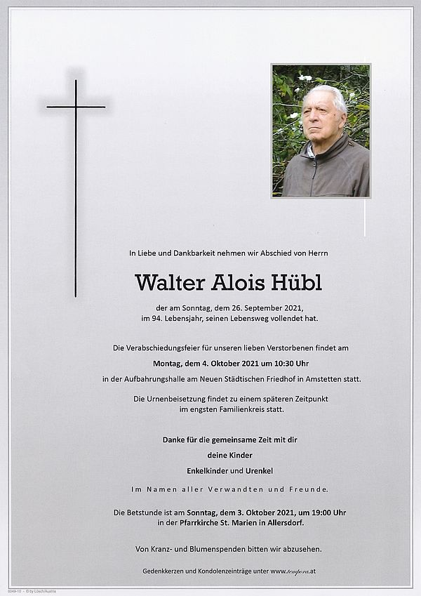 Parte von Walter Alois Hübl