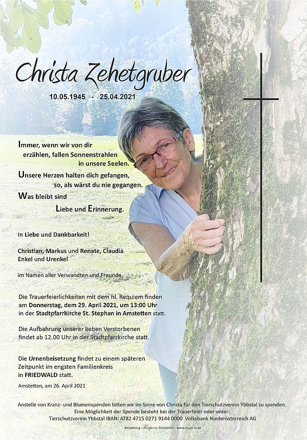 Parte von Christa Zehetgruber
