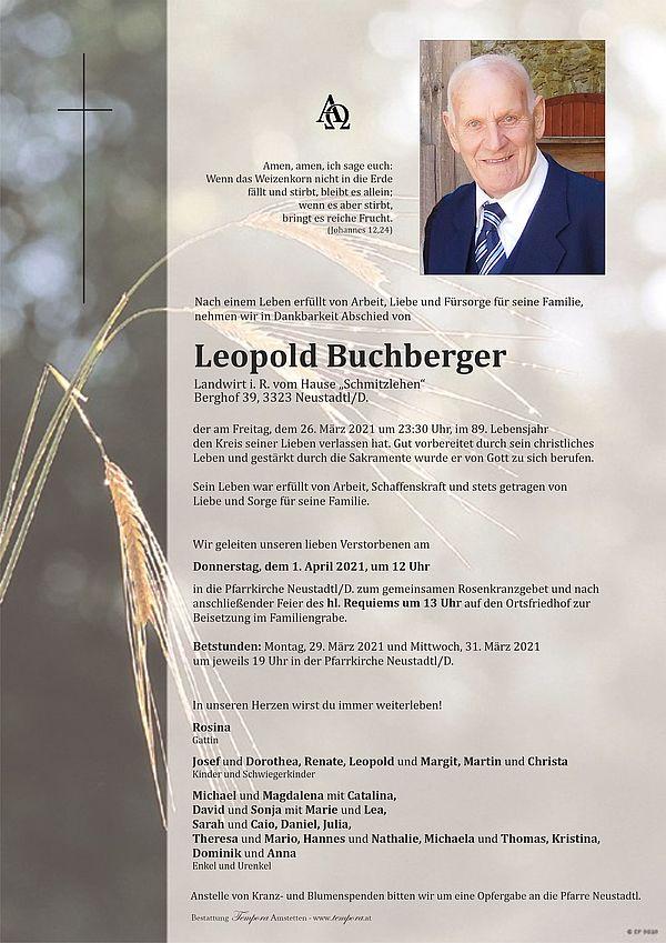 Parte von Leopold Buchberger